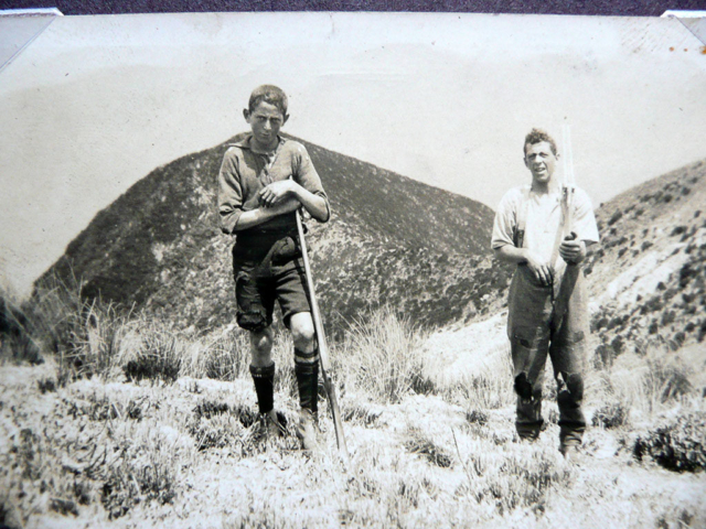 Bob And Ron Abbott on top of TeKinga Hill